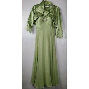 Niteline Green Formal Gown Set Size 12